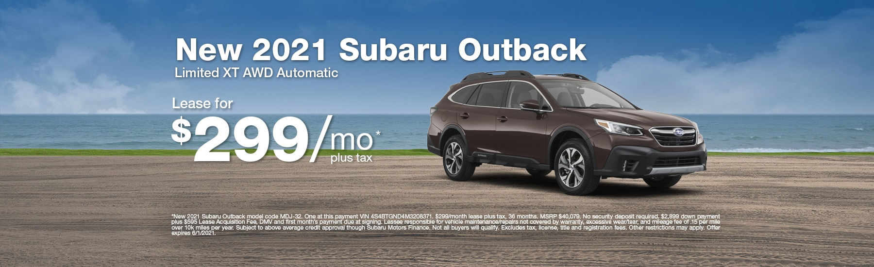 Special Lease offer on new Ascent at Timmons Subaru of Long Beach