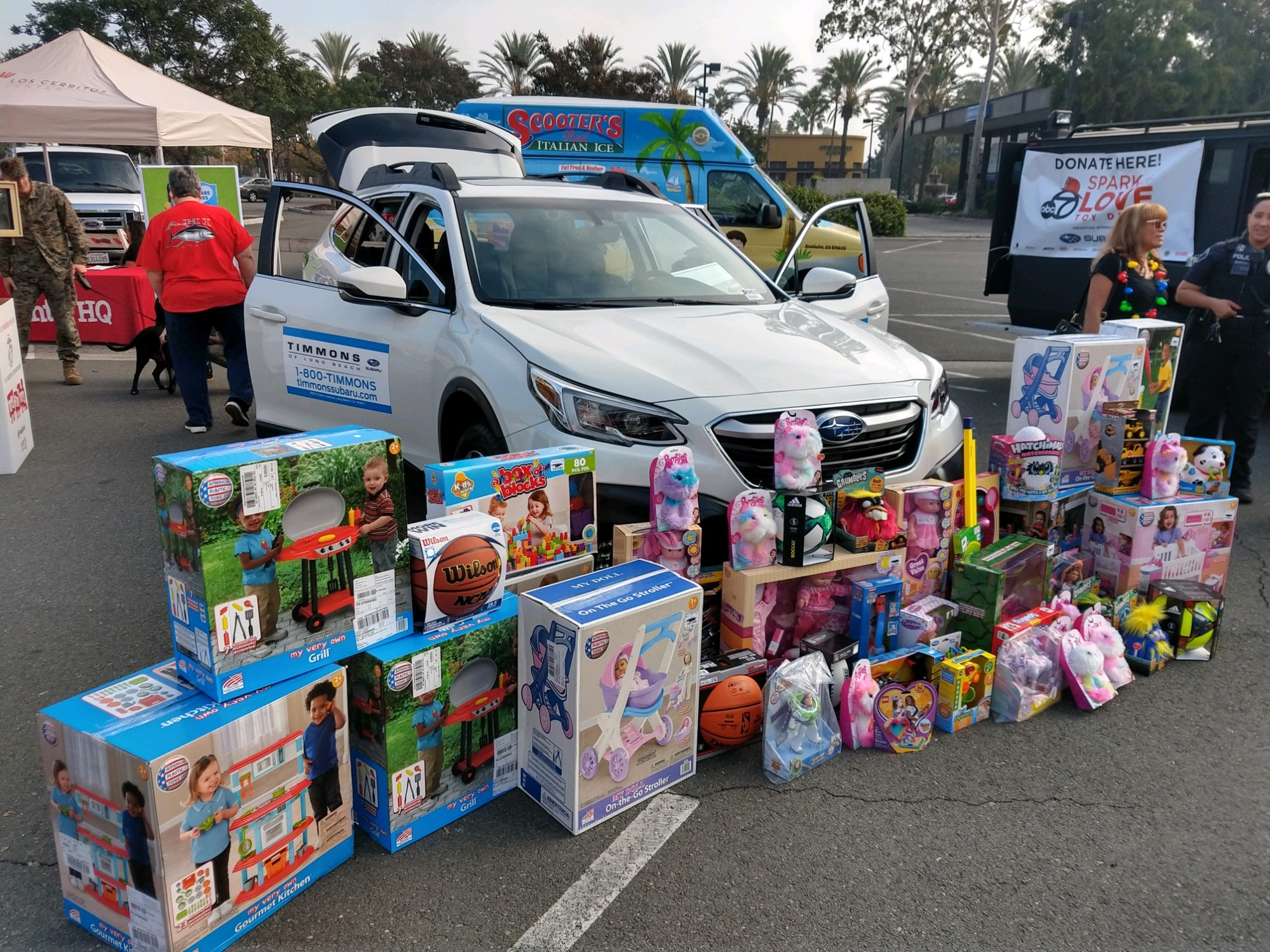 Timmons of Long Beach proudly supports and participates in the ABC 7 Spark of Love Charity Toy Drive Event presented by Subaru