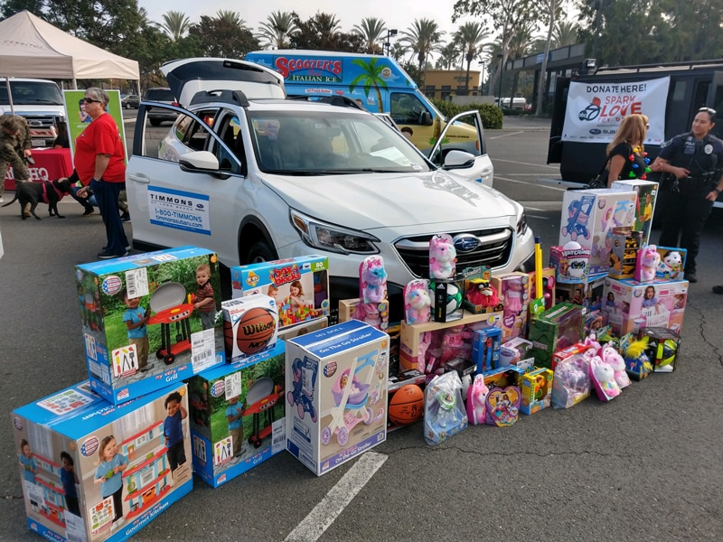 Timmons Long Beach supports Spark of Love charity toy drive event for the holidays