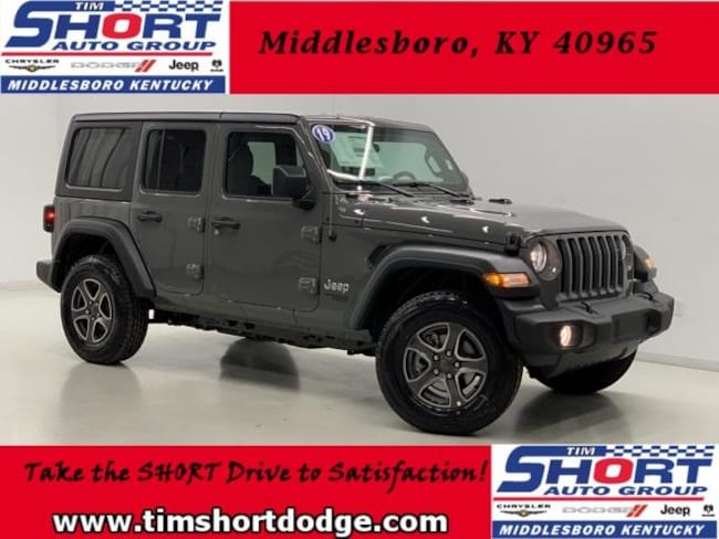 New 2019 Jeep Wrangler UNLIMITED SPORT S 4X4 Sport Utility for Sale in Middlesboro, KY at Tim Short Dodge Chrysler Jeep Ram