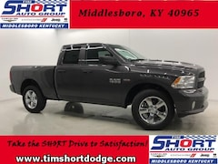 New 2018 Ram 1500 EXPRESS QUAD CAB 4X4 6'4 BOX Quad Cab for sale in Middlesboro, KY at Tim Short Dodge Chrysler Jeep Ram
