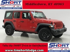 New 2018 Jeep Wrangler UNLIMITED SPORT 4X4 Sport Utility J114 for sale in Middlesboro, KY at Tim Short Dodge Chrysler Jeep Ram
