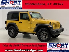 New 2019 Jeep Wrangler SPORT S 4X4 Sport Utility 1C4GJXAN1KW501557 for Sale in Middlesboro, KY at Tim Short Dodge Chrysler Jeep Ram