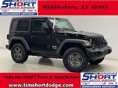 New 2019 Jeep Wrangler SPORT S 4X4 Sport Utility 1C4GJXAN9KW523581 for Sale in Middlesboro, KY at Tim Short Dodge Chrysler Jeep Ram