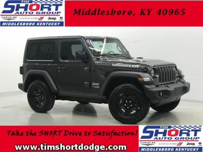 New 2018 Jeep Wrangler SPORT 4X4 Sport Utility for Sale in Middlesboro, KY at Tim Short Dodge Chrysler Jeep Ram