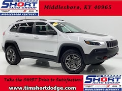New 2019 Jeep Cherokee TRAILHAWK 4X4 Sport Utility 1C4PJMBXXKD469394 for Sale in Middlesboro, KY at Tim Short Dodge Chrysler Jeep Ram