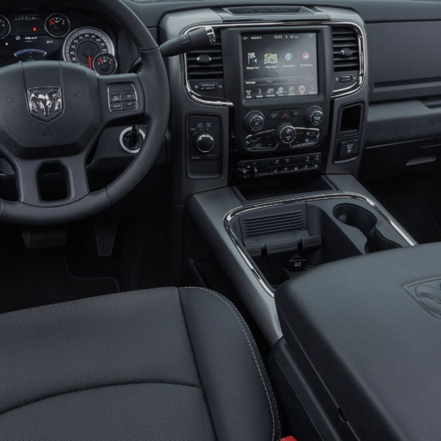 2017 Ram 3500 Night Edition Information Tim Short Chrysler Dodge 2500 Interior The Continues Its Distinctive Look Inside Cabin With Black Cloth Bucket Seats Or Available Leather Trimmed Sport Bench