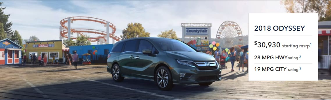 New 2018 Honda Odyssey Best Prices Lease Deals In Kentucky