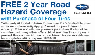 Free 2 Year Road Coverage with Purchase of Four Tires