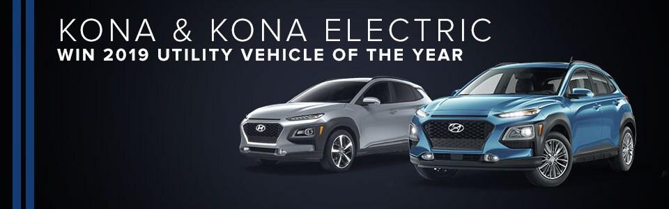 Kona & Kona Electric Win 2019 Utility Vehicle of the Year