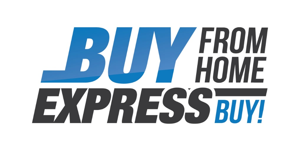 Buy From Home, Express Buy! Logo | Brownsville, TX