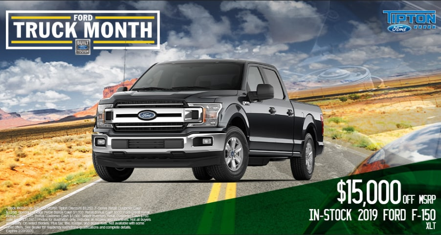 $15,000 OFF MSRP In-Stock 2019 Ford F-150 XLT