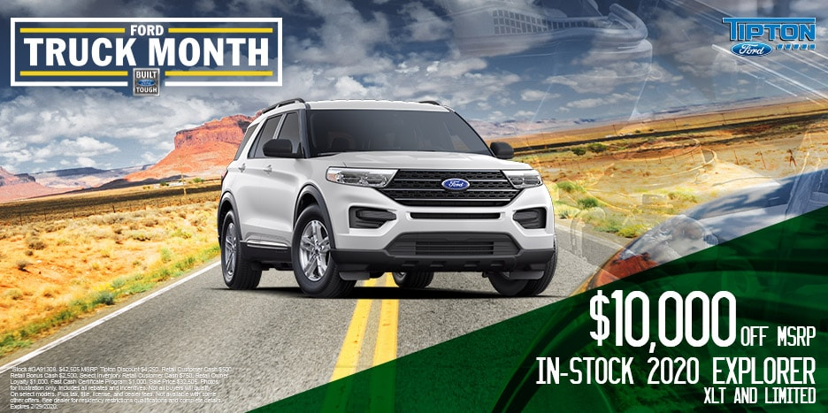 $10,000 OFF MSRP. In-Stock 2020 Explorer XLT And Limited