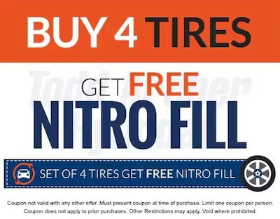 Free Nitro Fill with Tire Purchase