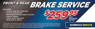 Front & Rear Brake Service