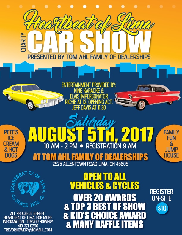 Car Dealerships In Lima Ohio >> Heartbeat Of Lima Car Show Tom Ahl Family Of Dealerships
