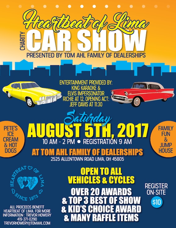 Heartbeat of Lima Car Show | Tom Ahl Family of Dealerships