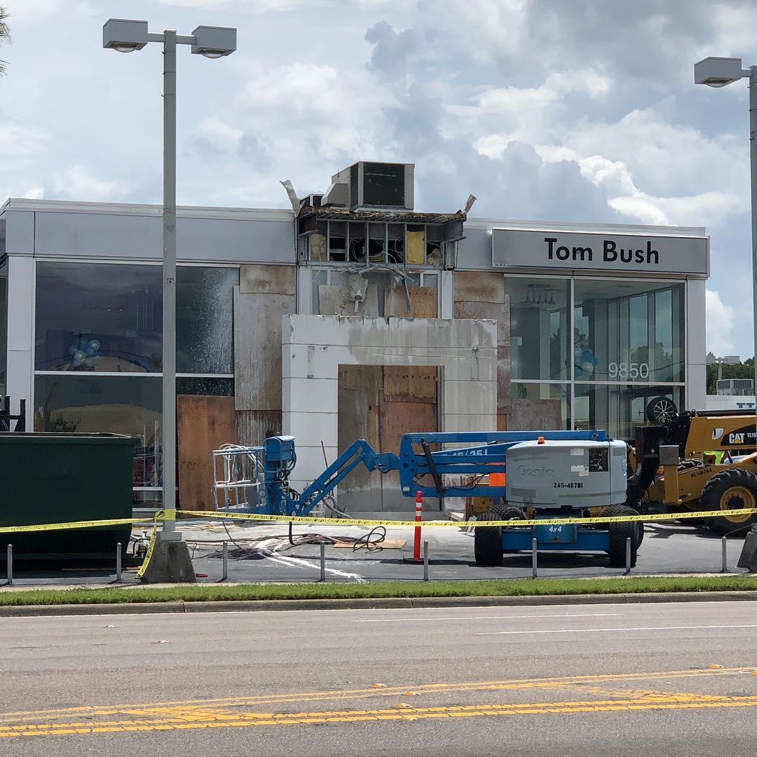 Tom Bush VW renovation begins.