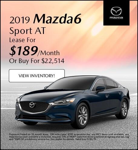 2019 Mazda Mazda6 Sport AT Lease - September