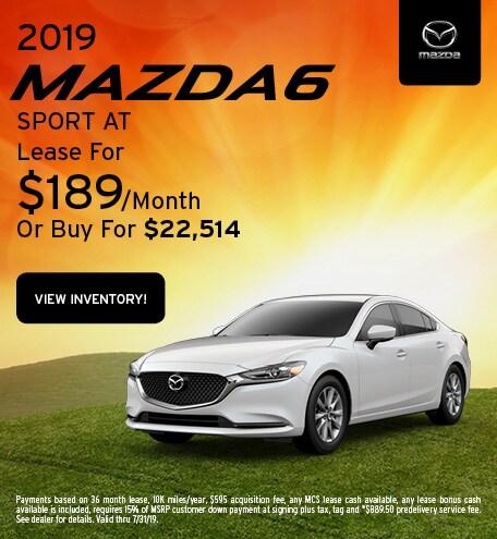 2019 Mazda6 Lease - July