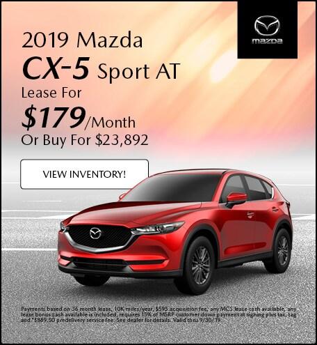 2019 Mazda CX-5 Sport AT Lease - September