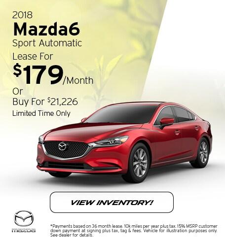 2018 Mazda6 Sport Automatic