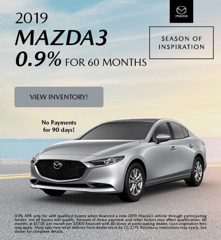 2019 Mazda3 Finance