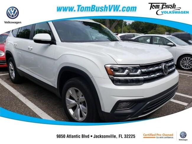 Used 2018 Volkswagen Atlas 3.6L V6 SE w/Technology SUV Jacksonville, Florida