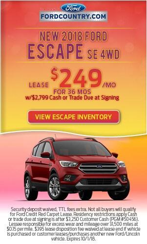 New 2018 Ford Escape SE AWD