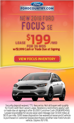 New 2018 Ford Focus SE