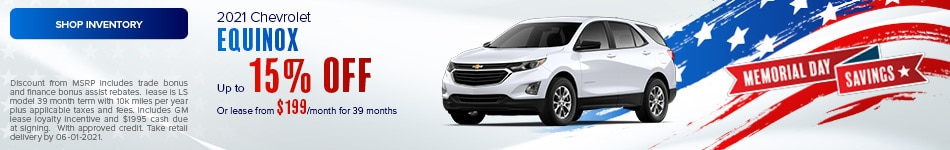 2021 Chevrolet Equinox- May Offer