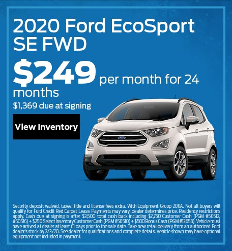 January 2020 Ford EcoSport Offer
