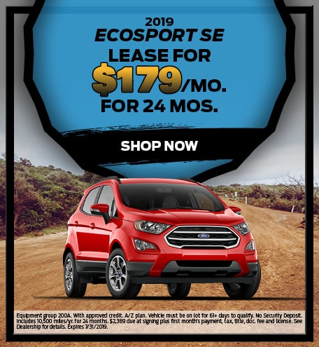 July 2019 Ford EcoSport Special