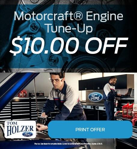 Updated January Motorcraft® Engine Tune-Up $10.00 OFF