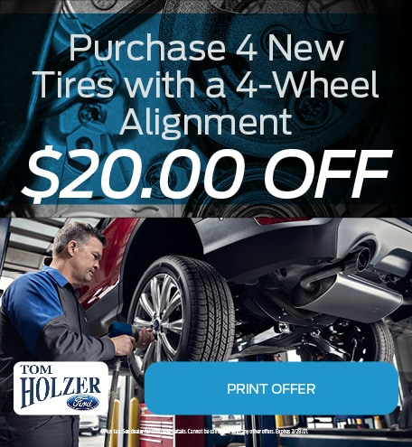 Updated January Purchase 4 New Tires with a 4-Wheel Alignment $20.00 OFF