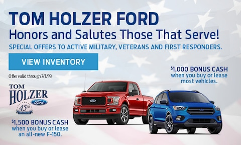 Tom Holzer Ford Honors and Salutes Those That Serve!