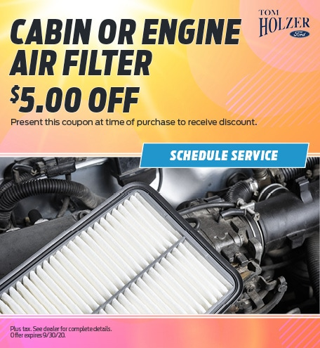 August Cabin or Engine Air Filter