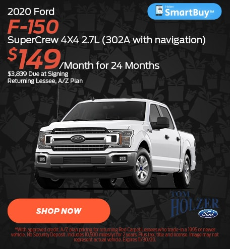 November 2020 Ford F-150 SuperCrew 4X4 2.7L (302A with navigation)
