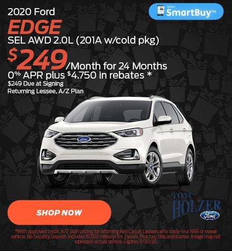 Updated November 2020 Ford Edge SEL AWD 2.0L (201A w/cold pkg)