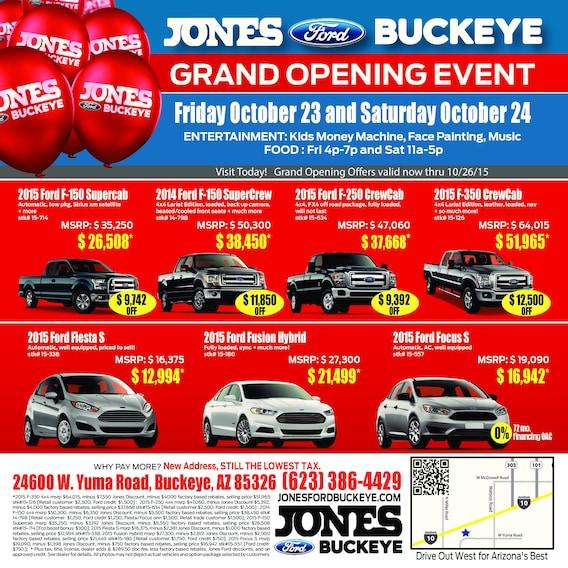 Jones Ford Buckeye >> Grand Opening Jones Ford Buckeye