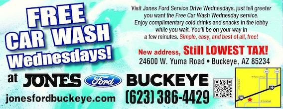 Free Car Wash Wednesdays | Jones Ford Buckeye