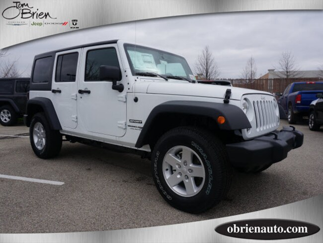 New 2018 Jeep Wrangler JK UNLIMITED SPORT S 4X4 Sport Utility Indianapolis