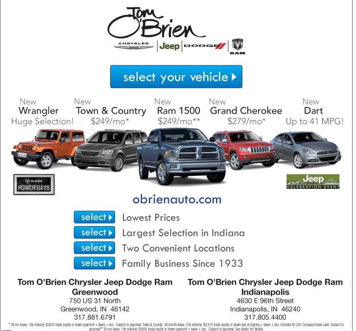 Tom O Brien Jeep >> Tom O Brien Chrysler Jeep Dodge Ram Indianapolis New Chrysler