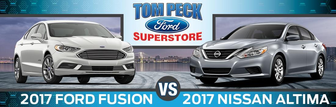 2017 Nissan Altima Vs 2017 Ford Fusion Near Crystal Lake Il