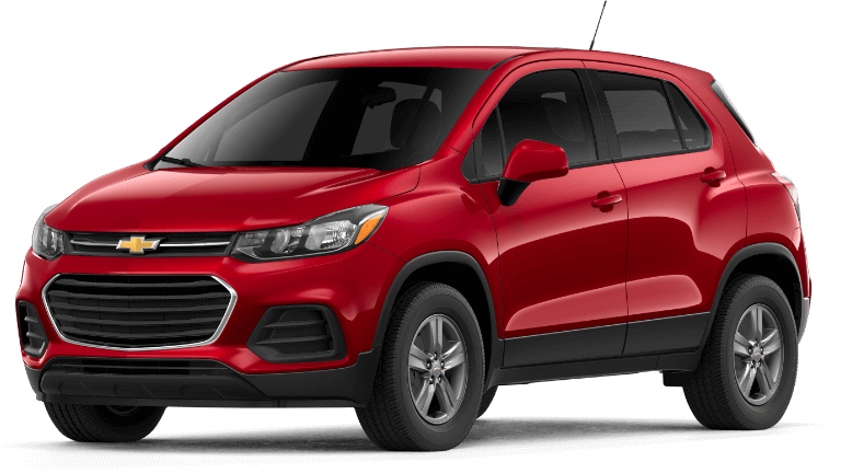 A red 2019 Chevy Trax