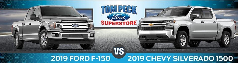 Silverado Vs F150 >> 2019 Chevy Silverado 1500 Vs 2019 Ford F150 Near Crystal Lake Il