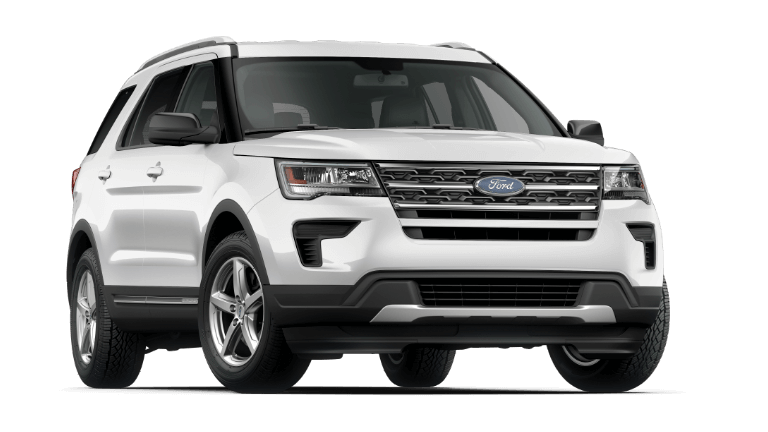 2019 Ford Explorer XLT in White