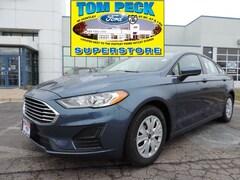 New 2019 Ford Fusion S Sedan 3FA6P0G74KR214362 for sale in Huntley, IL