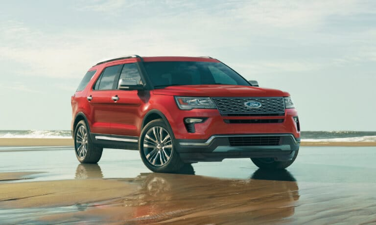 2019 Ford Explorer in Red