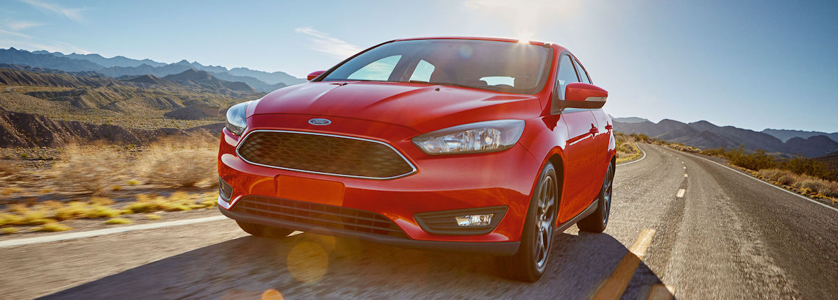 2017 ford focus sedan in red